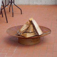 Hestia Rusting Steel Firepit