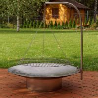 Hestia Stainless Steel Fire Pit with Barbecue Grill
