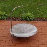 Hestia Stainless Steel Firepit with BBQ Grill
