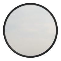Black Frame Round Mirror
