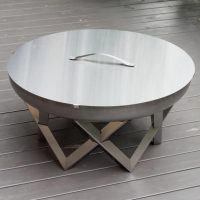 Stainless steel fire pit Awen with lid