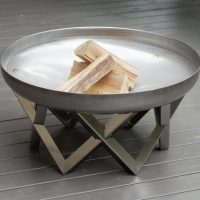 Stainless steel fire pit Awen